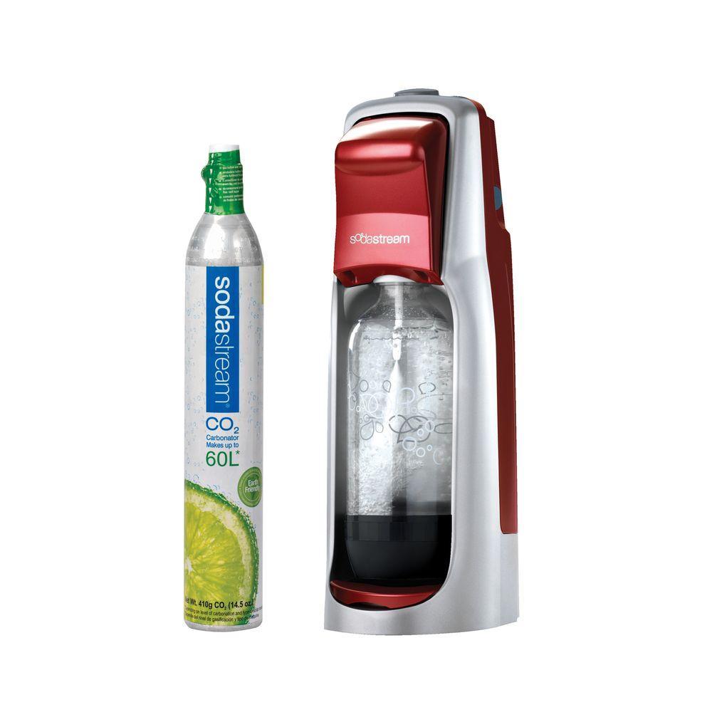 SodaStream Fountain Jet Home Soda Maker Starter Kit in Red