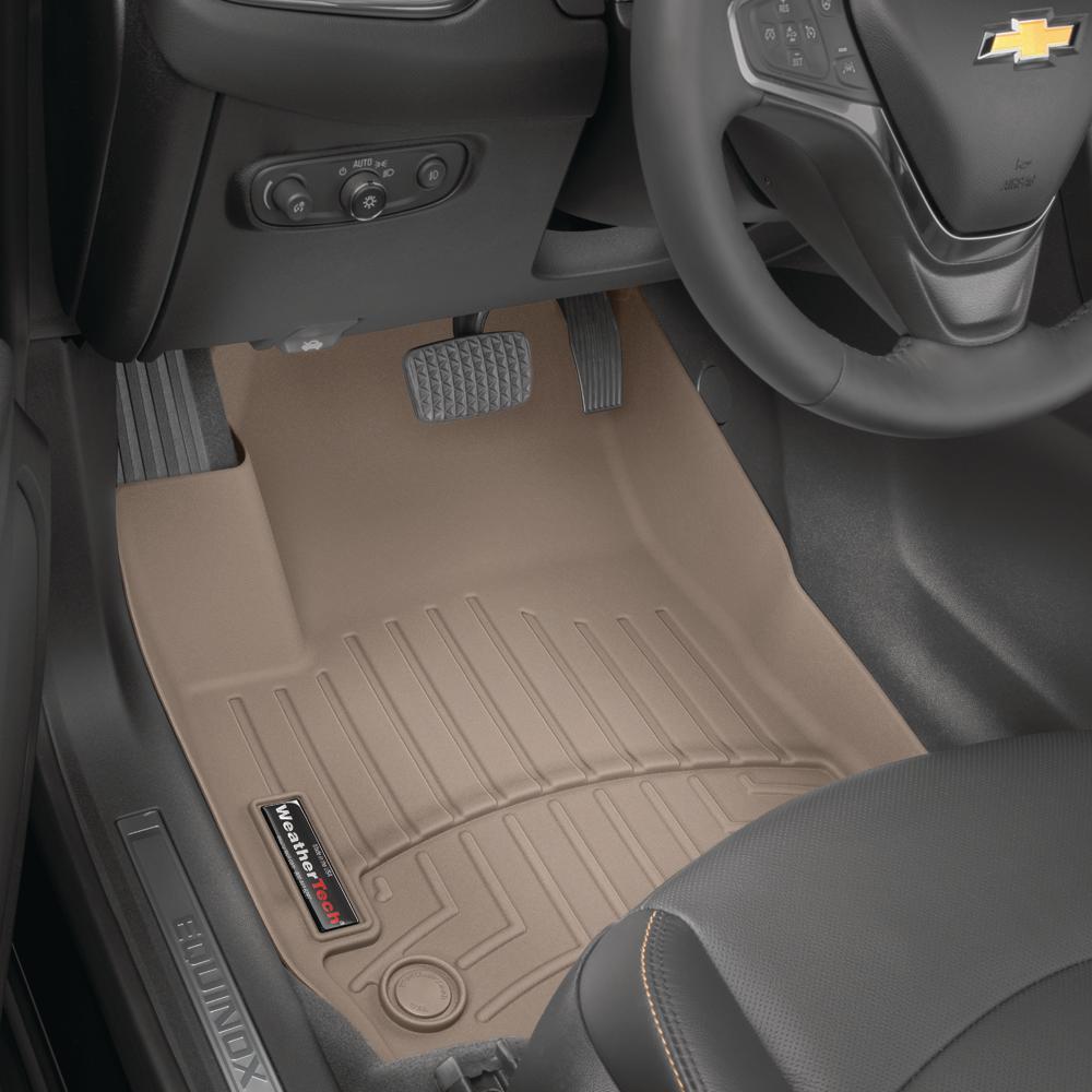 Tan WeatherTech Custom Fit FloorLiner for Hyundai Santa Fe 1st Row