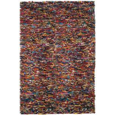 Leather Shag Multi 8 ft. x 10 ft. Area Rug
