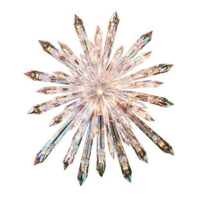 27 in. H Electric Clear Star Tree Topper