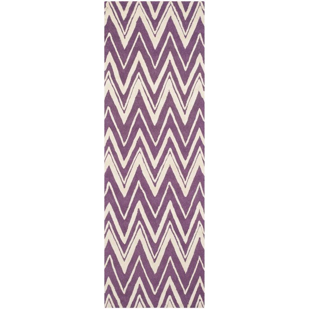 Cambridge Purple/Ivory 3 ft. x 8 ft. Runner Rug