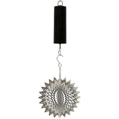 Silver Star 6 in. Wind Spinner with Battery-Operated Motor