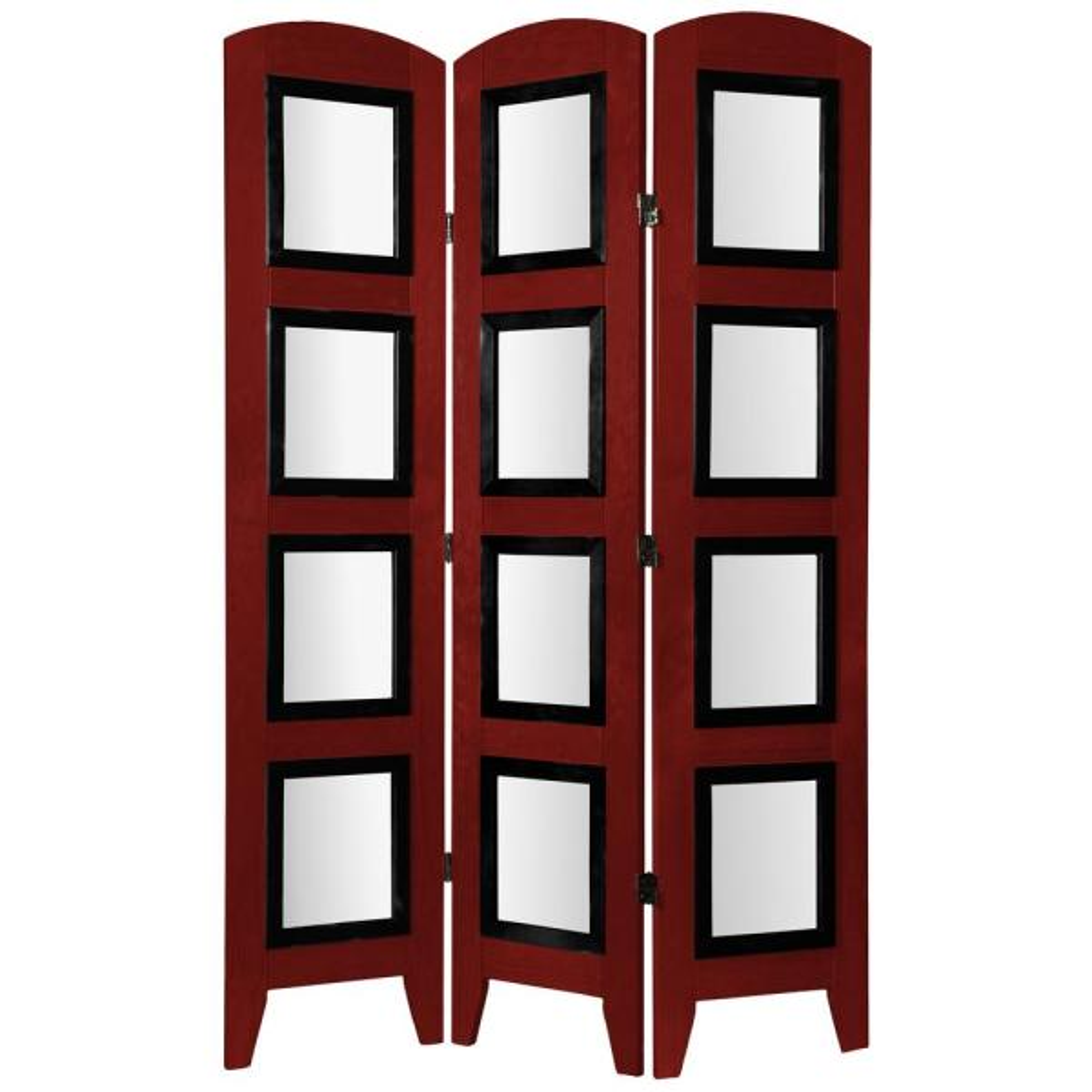 Oriental Furniture 6 ft. Rosewood 3-Panel Room Divider PHOSS-RWD-3P