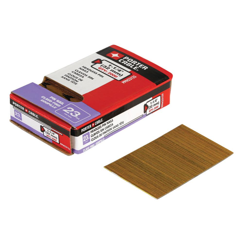 Porter-Cable 1-1/4 in. x 23-Gauge Pin Nail (2000 per Box)