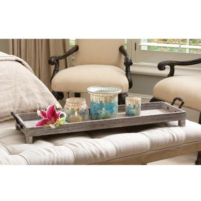Ashwood 33 in. x 9 in. Long Decorative Tray in Rustic and Ashwood