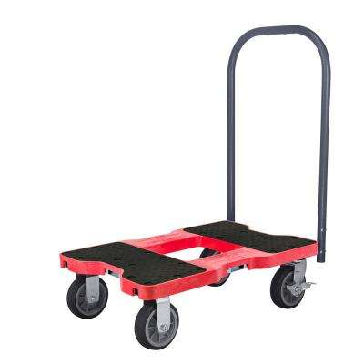1500 lbs. Capacity All-Terrain Professional E-Track Push Cart Dolly in Red