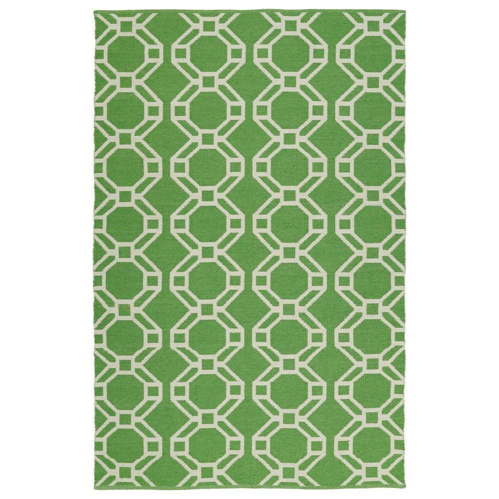 Brisa Lime Green 8 ft. x 10 ft. Indoor/Outdoor Reversible Area Rug