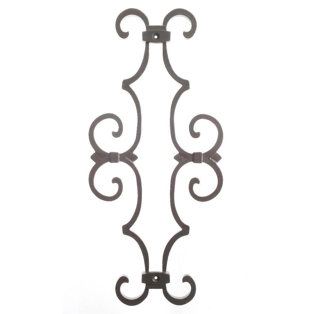 New England Classic 17 in. x 7-5/8 in. Aluminum Charcoal Baluster Centerpiece, Charcoal Smooth