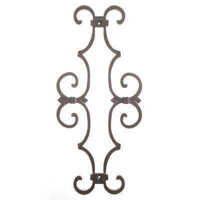 New England Classic 17 in. x 7-5/8 in. Aluminum Charcoal Baluster Centerpiece