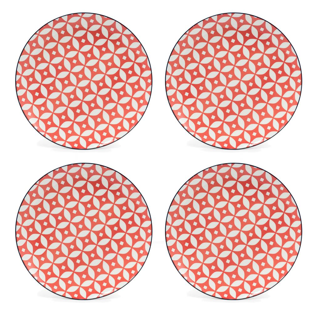 Cady Red Dinner Plates (Set of 4)