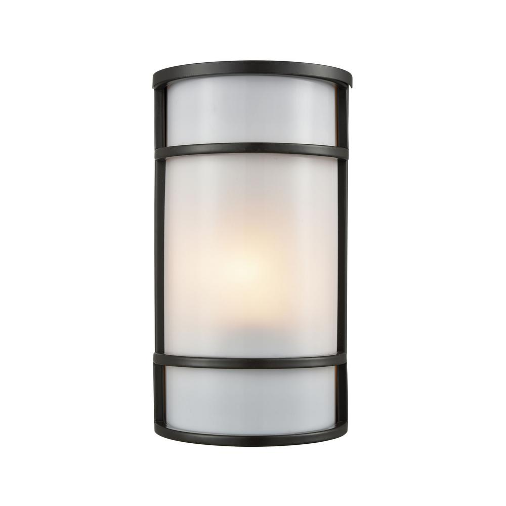 Bella 1 Light Oil Rubbed Bronze Outdoor Wall Mount Sconce
