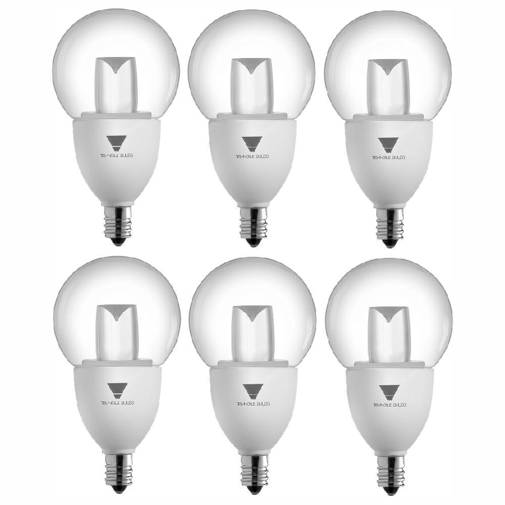 40-Watt Equivalent G16.5 Decorative Globe Dimmable E12 Base LED Light Bulbs (6-Pack)