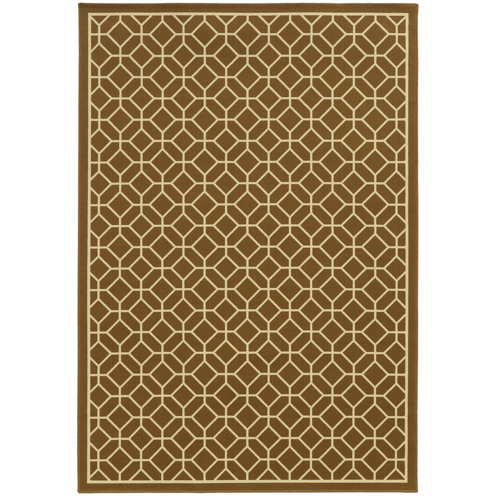 Charming Home Decorators Collection Sand Brown 4 Ft. X 6 Ft. Indoor/Outdoor Area