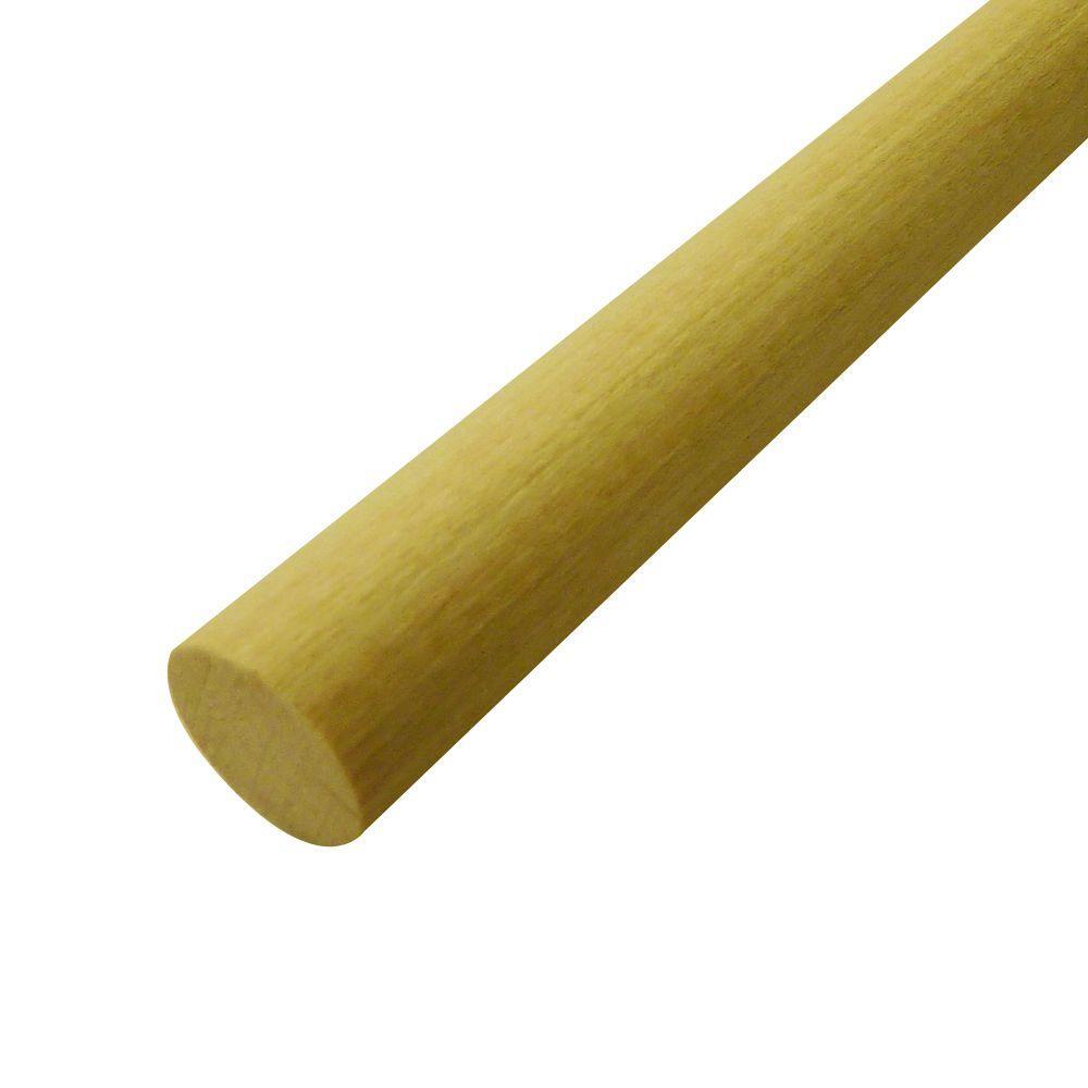 Swaner Hardwood Hardwood Rounds (Common: 3/4 in. x 4 ft.; Actual: 0.75 in. x 0.75 in. x 48 in.)