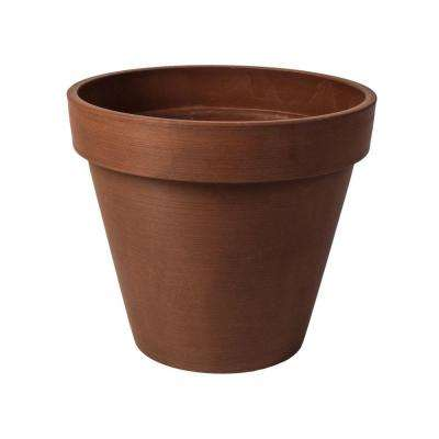 Valencia 20 in. Round Textured Terra Cotta Polystone Band Planter