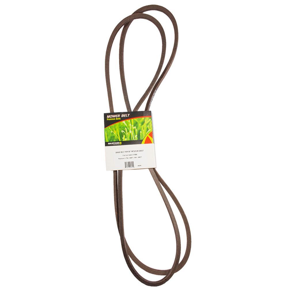 Blade Drive Belt for MTD, Cub Cadet, Troy-Bilt Mowers Replaces OEM #'s 754-04077, 954-04077, 95404077A