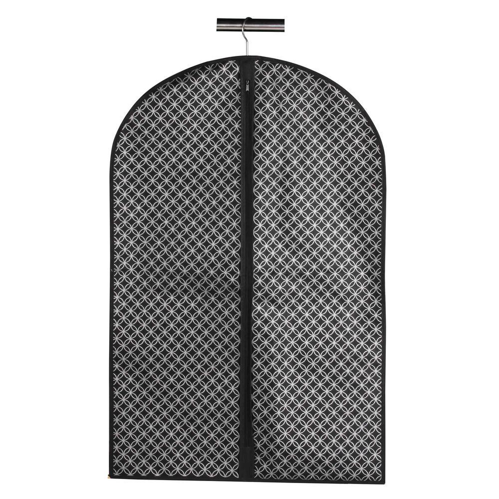 23.6 in. x 39.4 in. x 23.6 in. Blossom Garment Bag in Silver, Silver/Black