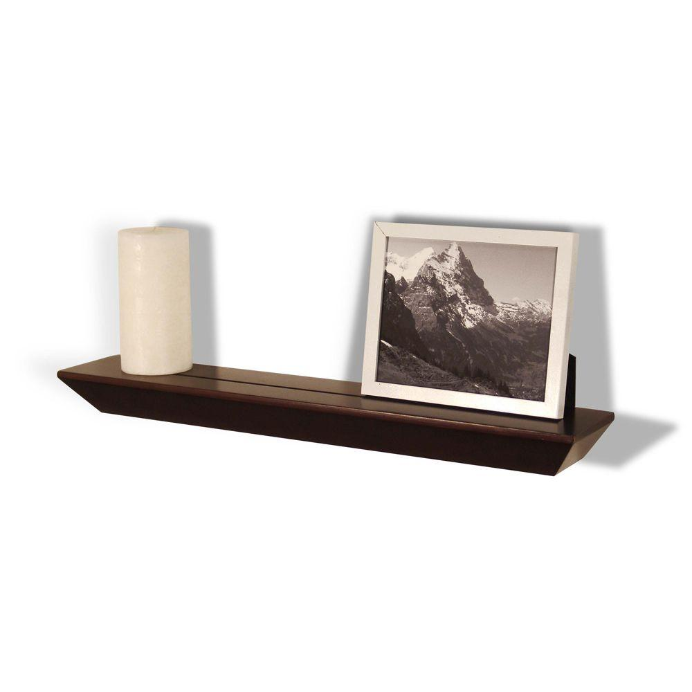 Lewis Hyman 23 in. x 4 in. Espresso Floating Accent Ledge-DISCONTINUED
