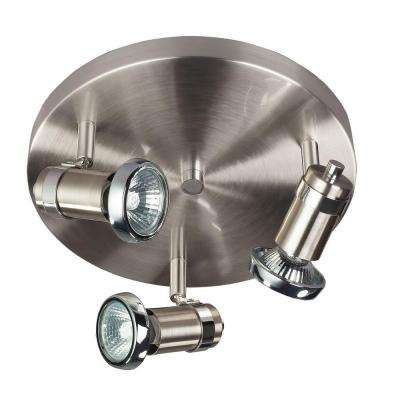 Shay 3-Light Brushed Nickel with Chrome Accents