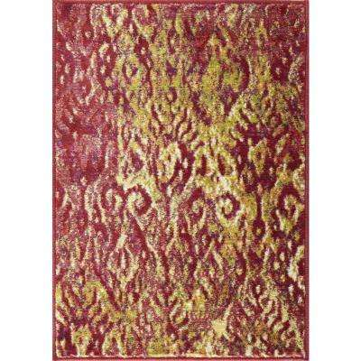 Lyon Lifestyle Collection Poinsettia 2 ft. x 3 ft. Accent Rug