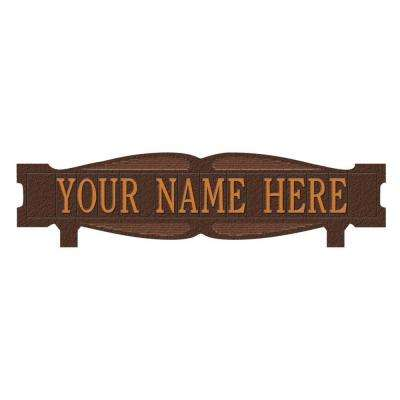 Rectangular 2-Sided 1-Line Mailbox Sign without Ornament Standard - Antique Copper
