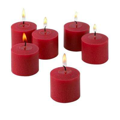 10 Hour Red Unscented Votive Candles (Set of 12)