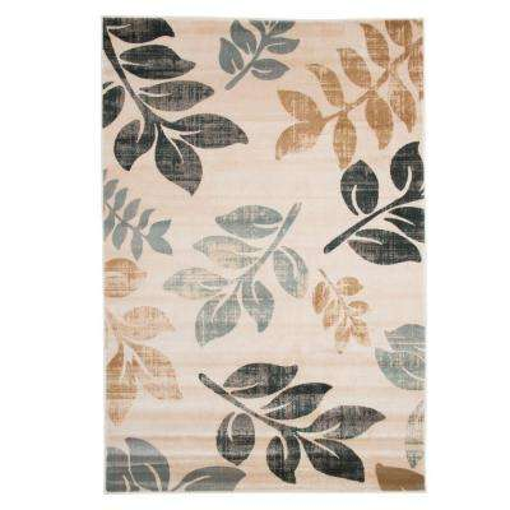 Opus Falling Leaves Cream 5 ft. 3 in. x 7 ft. 7 in. Area Rug