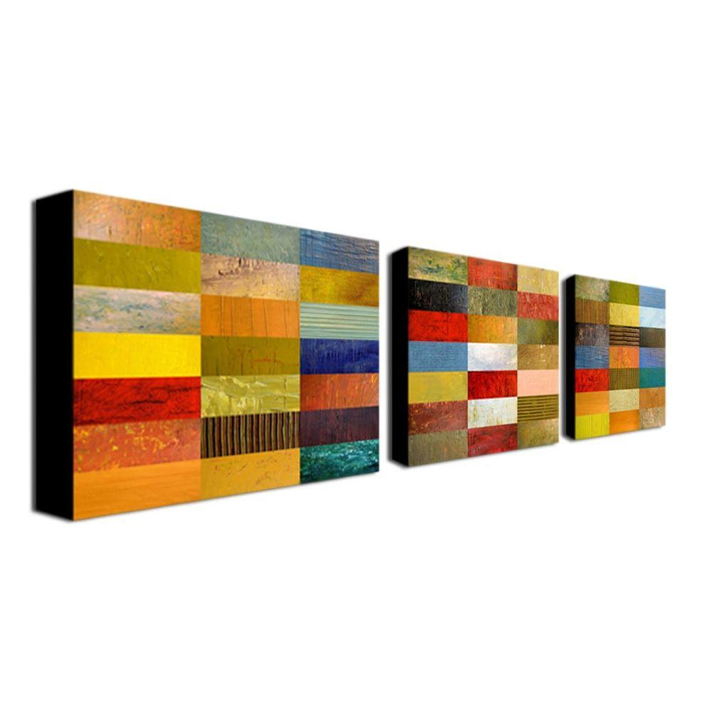 Trademark Fine Art Eye Candy by Michelle Calkins 3-Panel Wall Art Set