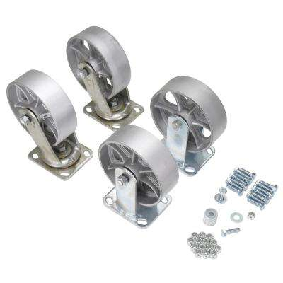 6 in. x 2 in. Semi-Steel Caster Kit 4800# Cap
