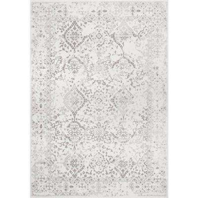 Vintage Odell Ivory 5 ft. 3 in. x 7 ft. 9 in. Area Rug