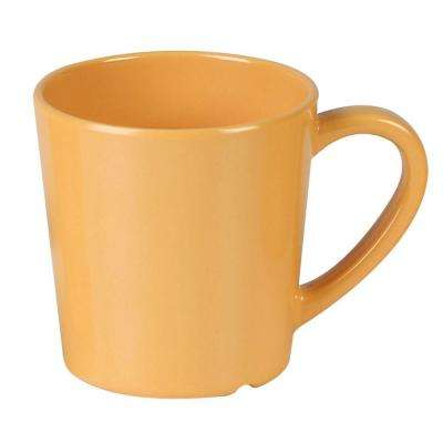 Coleur 7 oz., 3-1/8 in. Mug/Cup in Yellow (12-Piece)