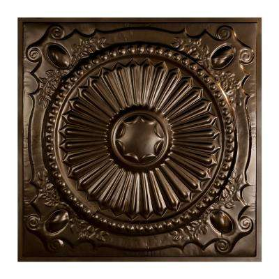 Toronto 2 ft. x 2 ft. Lay-in Tin Ceiling Tile in Bronze Burst (Case of 5)