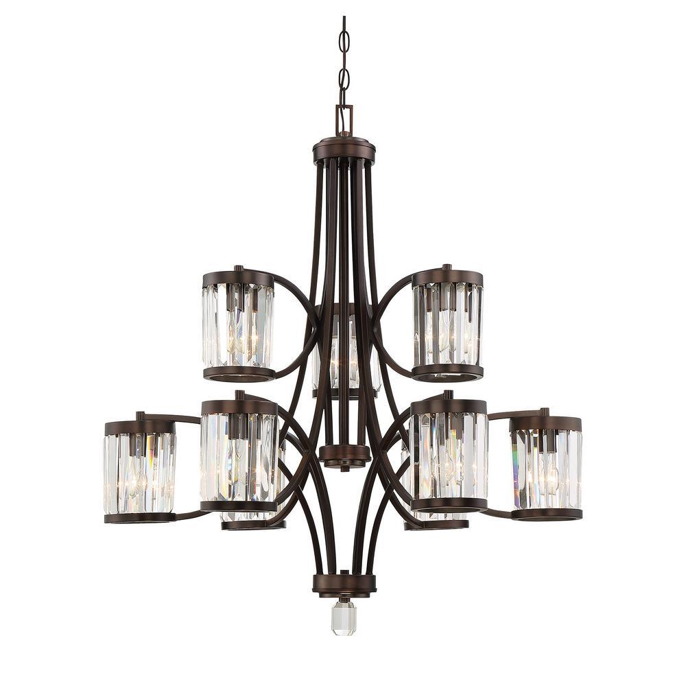 Filament design 9 light burnished bronze chandelier ect sh261640 filament design 9 light burnished bronze chandelier aloadofball Images