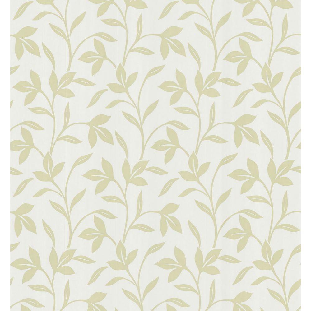 Bath Bath Bath III Olive Leaf Trail Wallpaper Sample