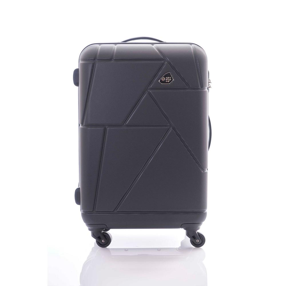 Verona Black 3-Piece Spinner Luggage Set