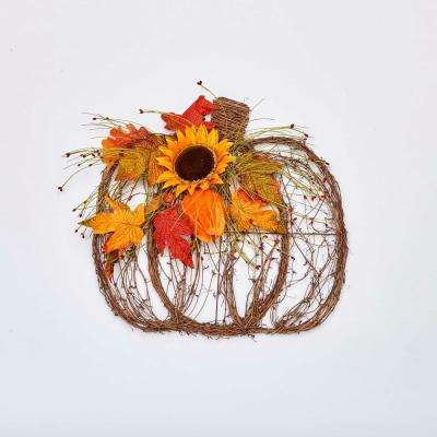18 in. Pumpkin Twig Decor