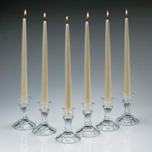 Click here to buy Light In The Dark 12 inch Tall Elegant Ivory Taper Candles (Set of 12) by Light In The Dark.