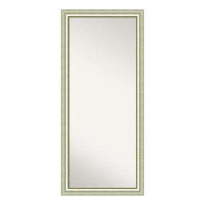 Vegas Burnished Silver Wood 29 in. W x 65 in. H Casual Floor/Leaner Mirror
