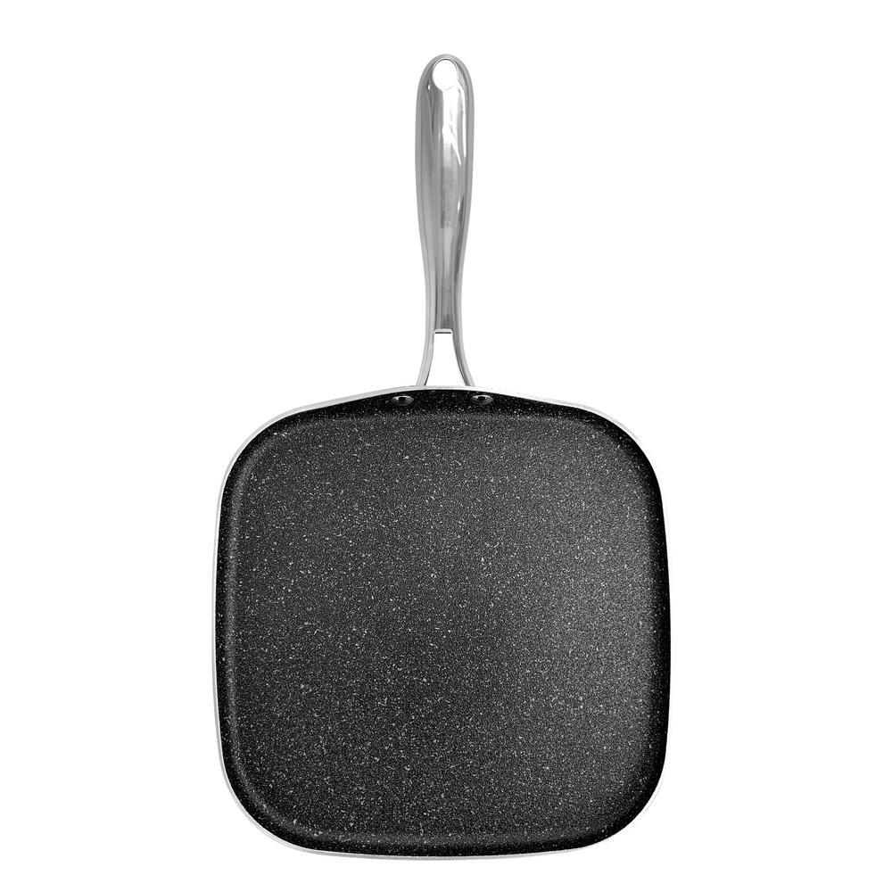 10.5 in. Titanium Non-Stick Diamond Infused Coating Griddle Pan