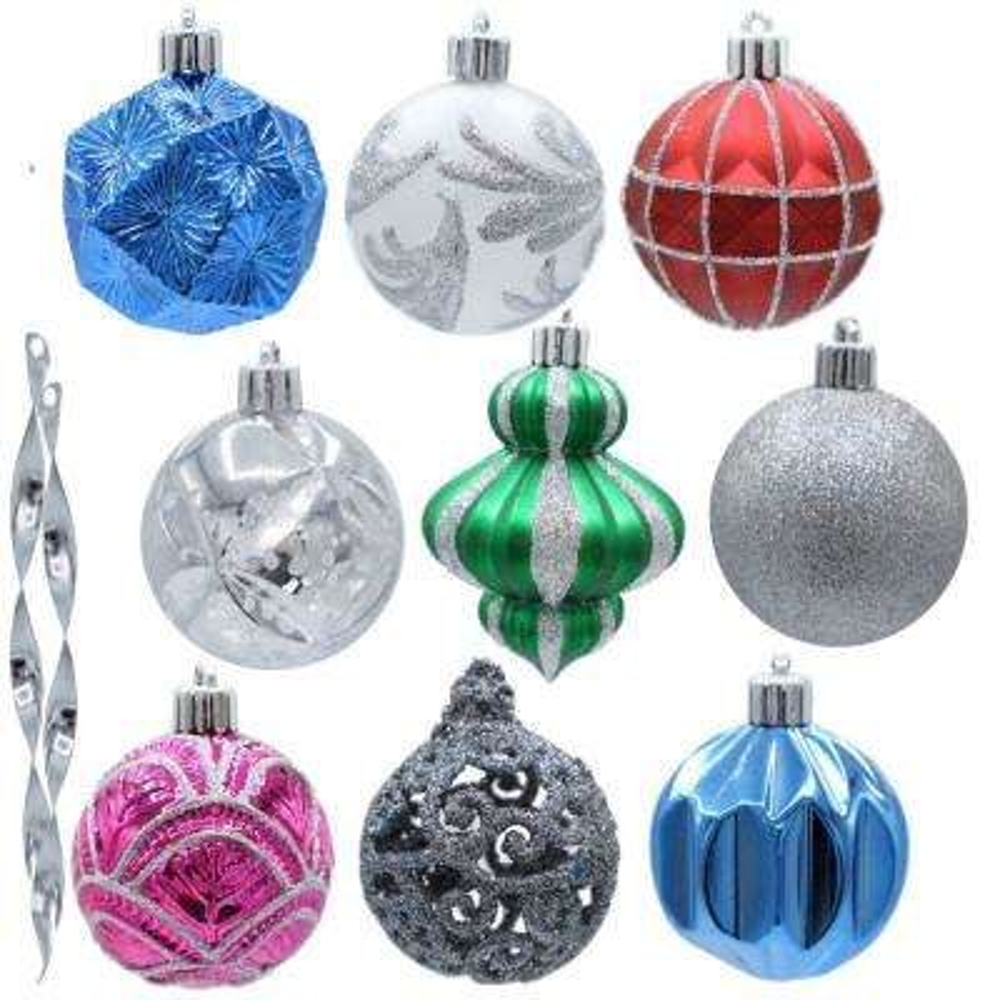 Jingle Jubilee Shatter resistent Ornament Set (101-Count)