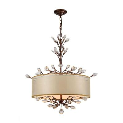 Asbury 4-Light Spanish Bronze LED Chandelier