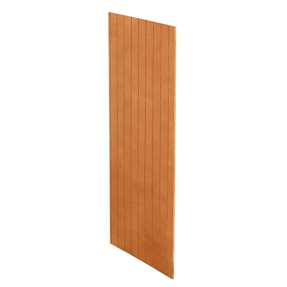 Home Decorators Collection Cinnamon Assembled 0.1875x34.5x23.25 in. Base Kitchen Skin End Panel with V-Groove