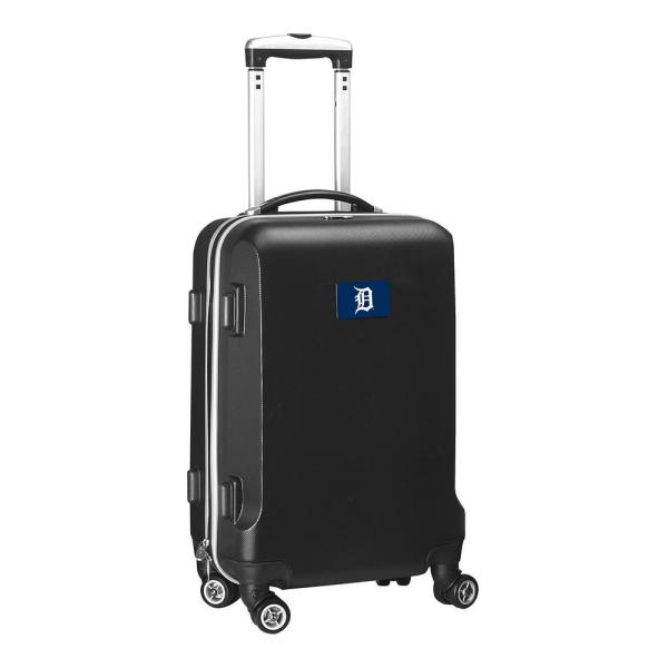 Denco MLB Detroit Tigers Black 21 in. Carry-On Hardcase Spinner Suitcase