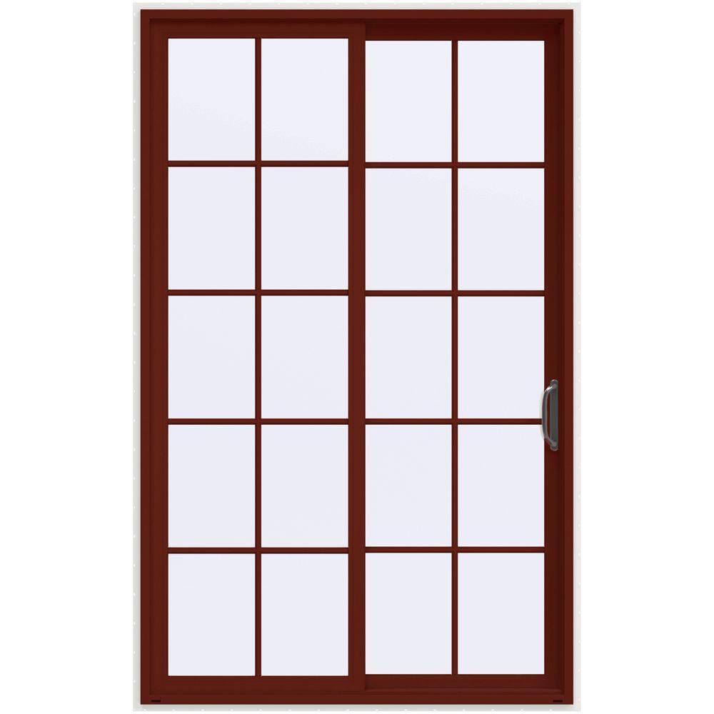 jeld wen 60 in x 96 in v 4500 mesa red prehung - 60 Patio Door