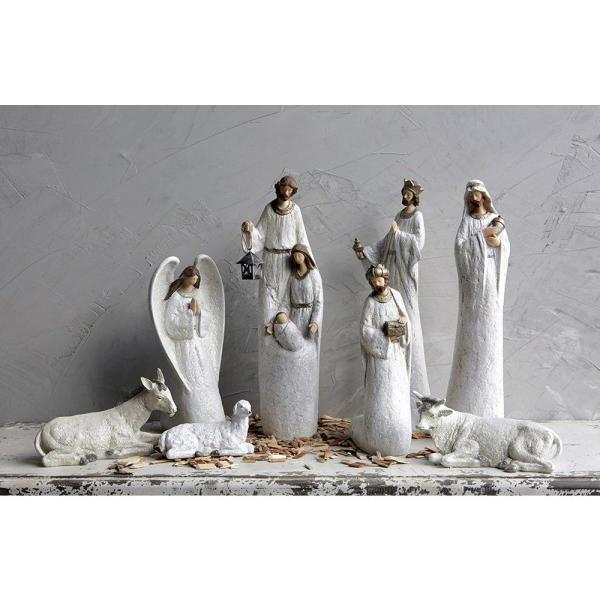 Country Christmas 18-1/2 in. Resin Nativity (Set of 8)