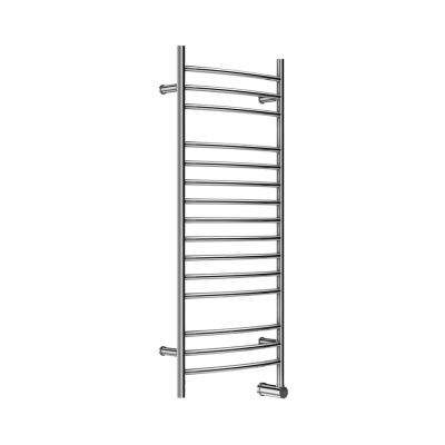 15-Bar Wall Mounted Electric Towel Warmer with Digital Timer in Stainless Steel Polished