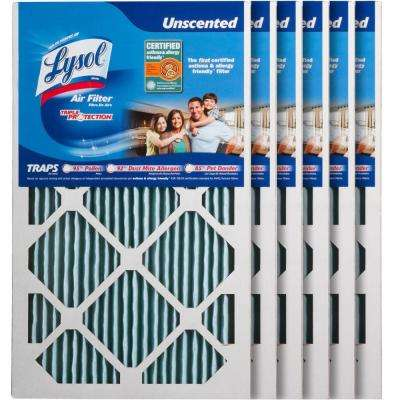 12 in. x 20 in. x 1 in. Certified Asthma and Allergy Triple Protection Air Filter (6-Pack)