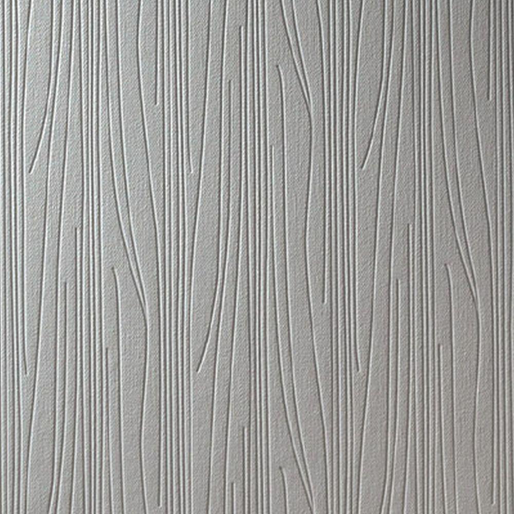Graham & Brown Subway Paintable White Wallpaper 19784