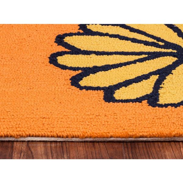 Rizzy Home Azzura Hill Orange Floral 9 Ft X 12 Ft Indoor Outdoor Area Rug Azhah997300600912 The Home Depot