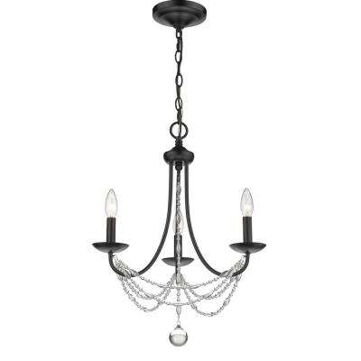 Mirabella 3-Light Mini Chandelier in Black